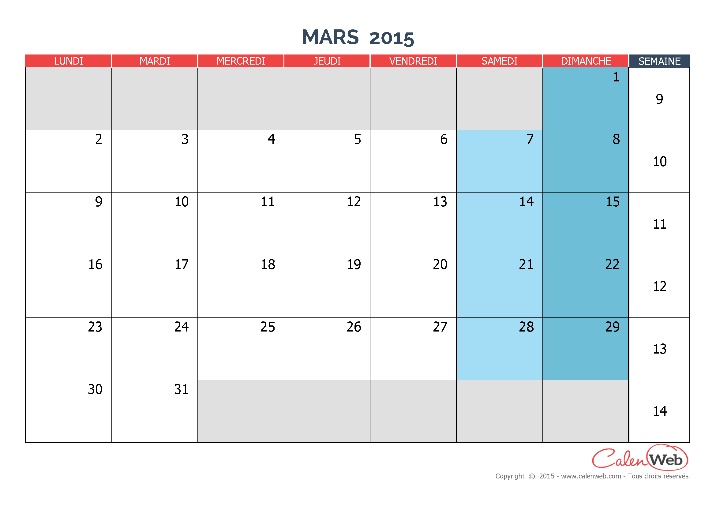 Calendrier Mars 2015 Related Keywords & Suggestions - Calendrier Mars ...