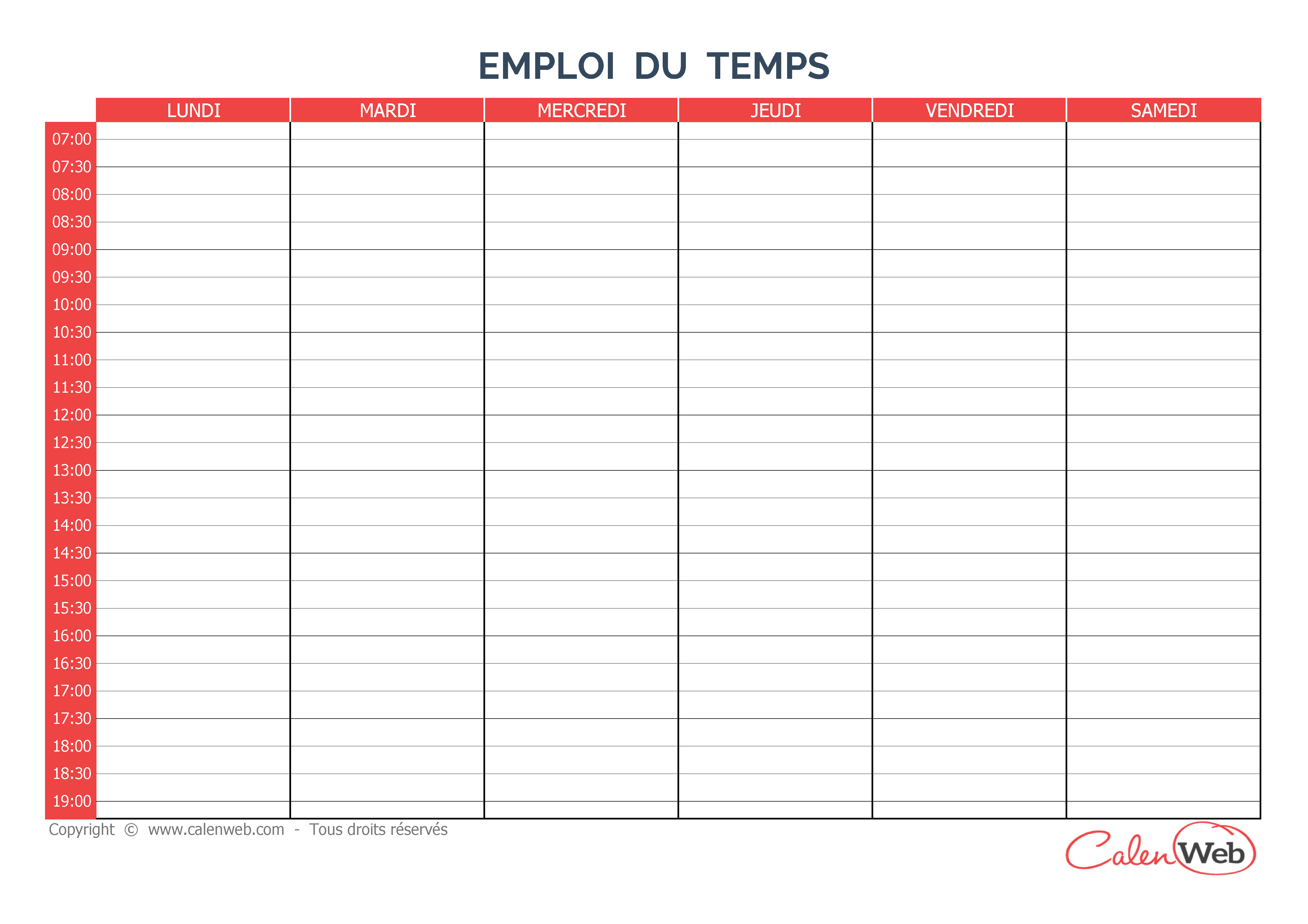 Créer un calendrier personnalisé à imprimer gratuitement